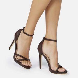 Espresso Brown Bahara Ankle Strap Heeled Sandal